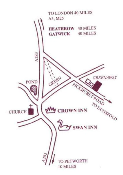 location of dovecote bed and breakfast godalming